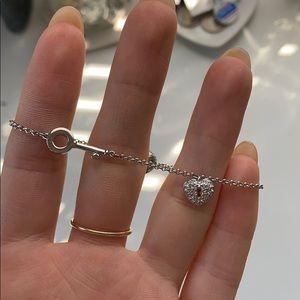 swarovski lock and key bracelet sterling silver
